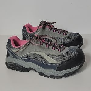 Brahma Women's Steel Toe Grey, Pink Shoes